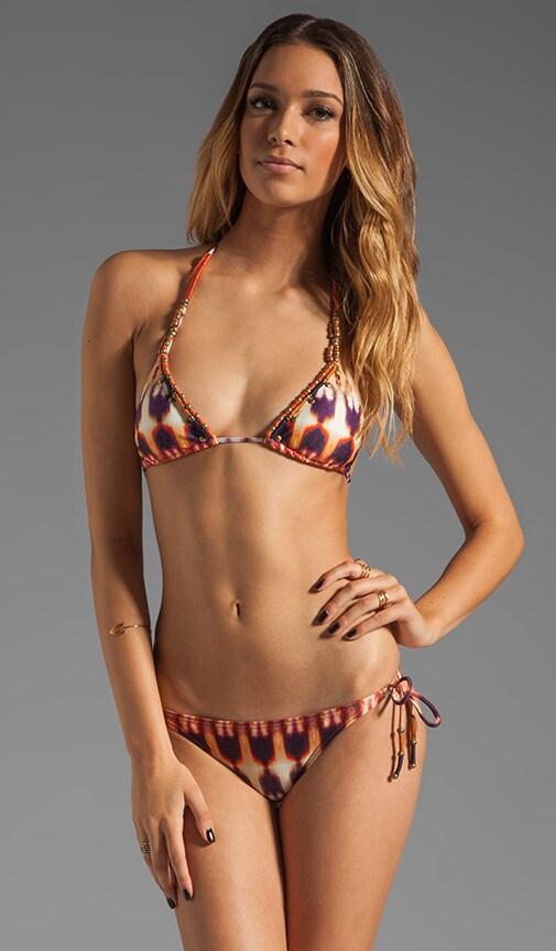 Zambia Embroidered Tri Bikini Top