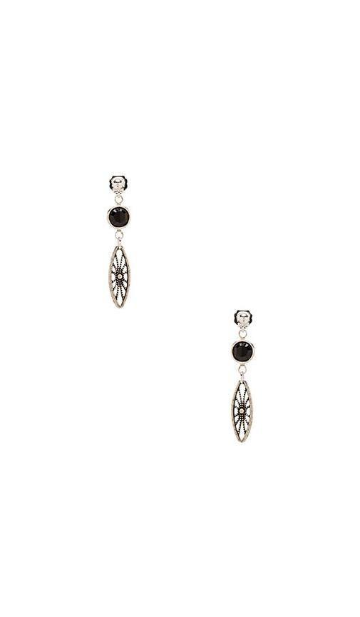 Legends Black Crystal Earrings