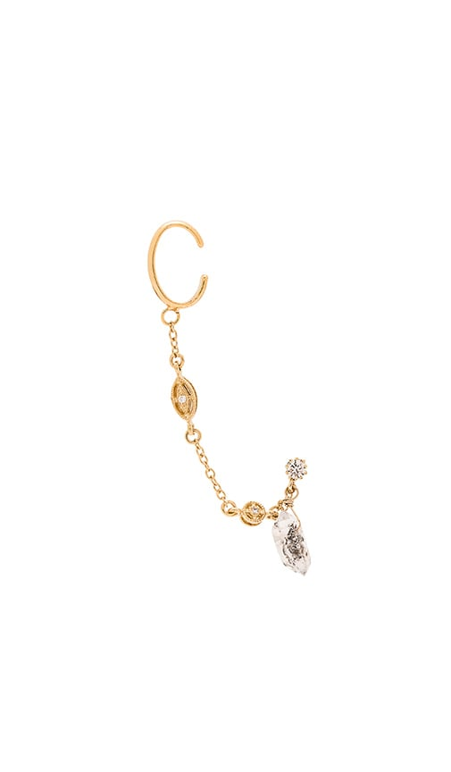 Vanessa Mooney The Vega Diamond Cuff and Stud Earrings in Gold