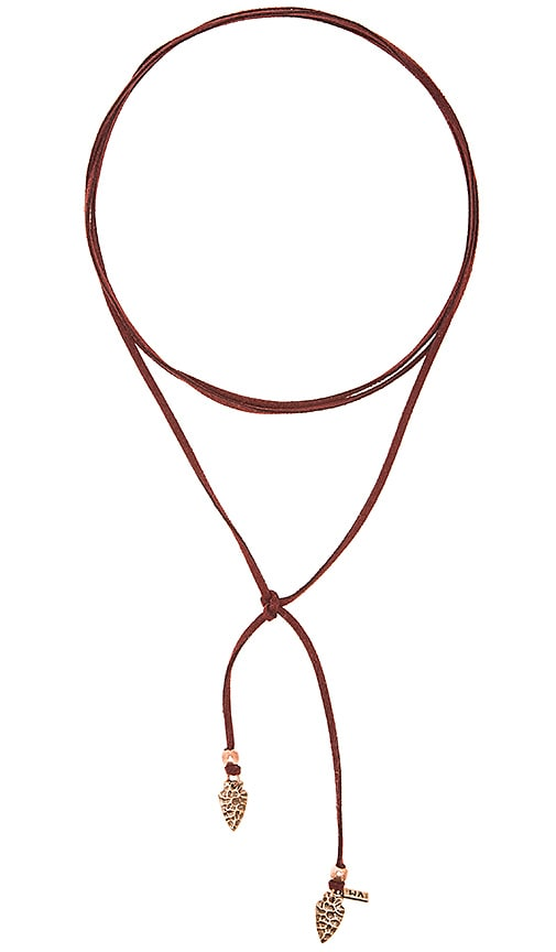 Vanessa Mooney Arrowhead Wrap Choker in Burgundy