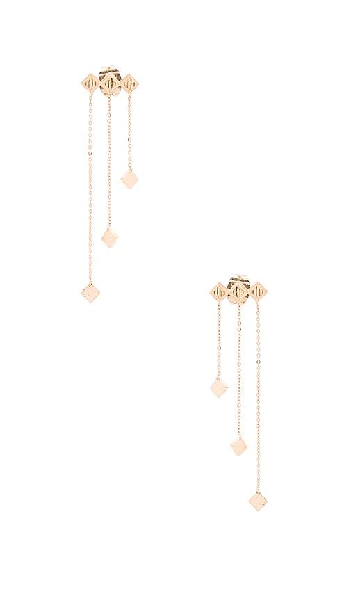 Vanessa Mooney Thunderstruck Drop Diamond Earring in Gold