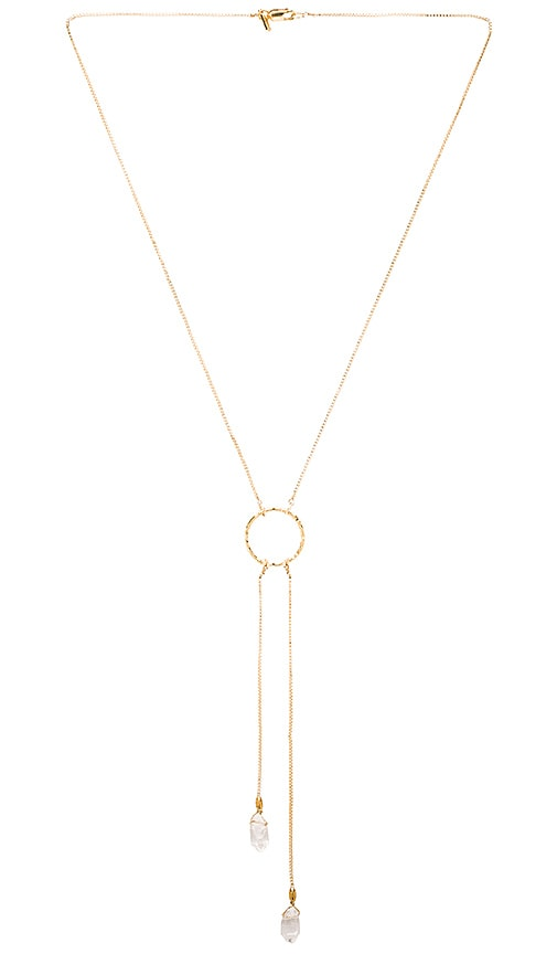 Vanessa Mooney Zola Necklace in Metallic Gold