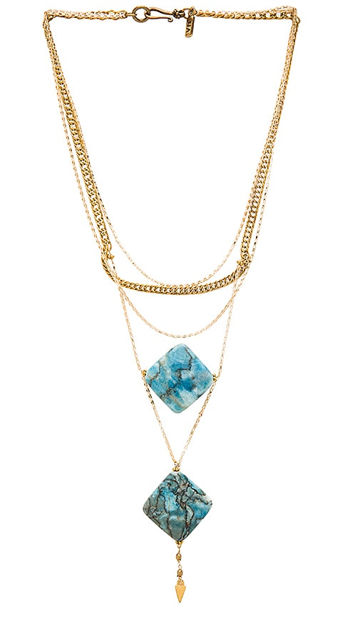 Vanessa Mooney Kismet Necklace in Metallic Gold