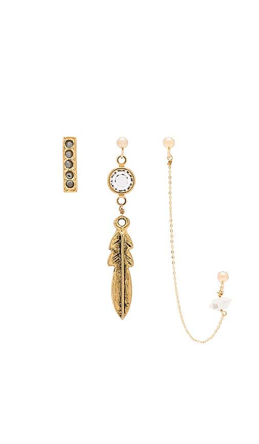 Vanessa Mooney Zeppelin Earring Set in Gold