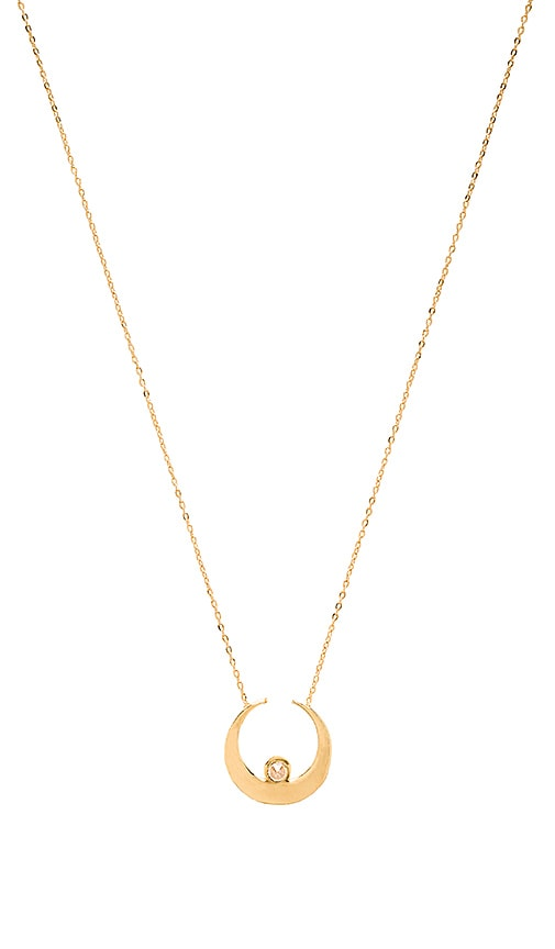 Vanessa Mooney The Sadi Crescent Moon Necklace in Gold