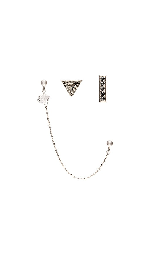 Vanessa Mooney Zeppelin Earring Set in Silver