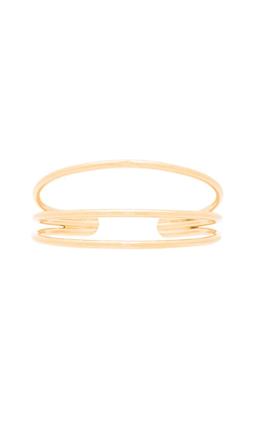 Vanessa Mooney Blondie Cuff Bracelet in Metallic Gold