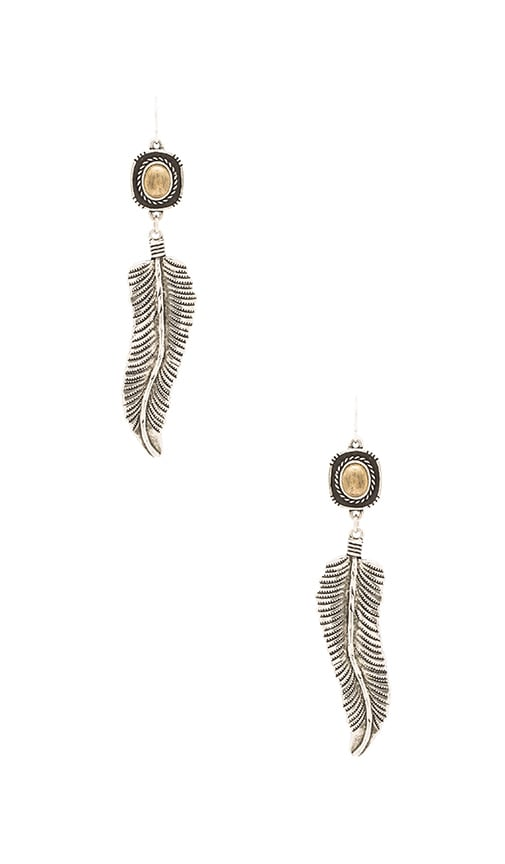 Vanessa Mooney Amiga Earrings in Metallic Silver