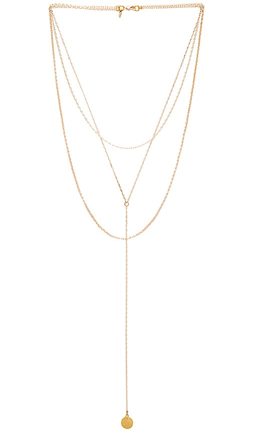 Vanessa Mooney x REVOLVE 3 Layered Necklace in Metallic Gold