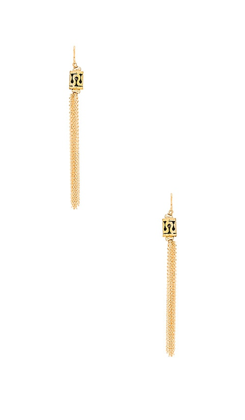 Vanessa Mooney Demi Earrings in Metallic Gold