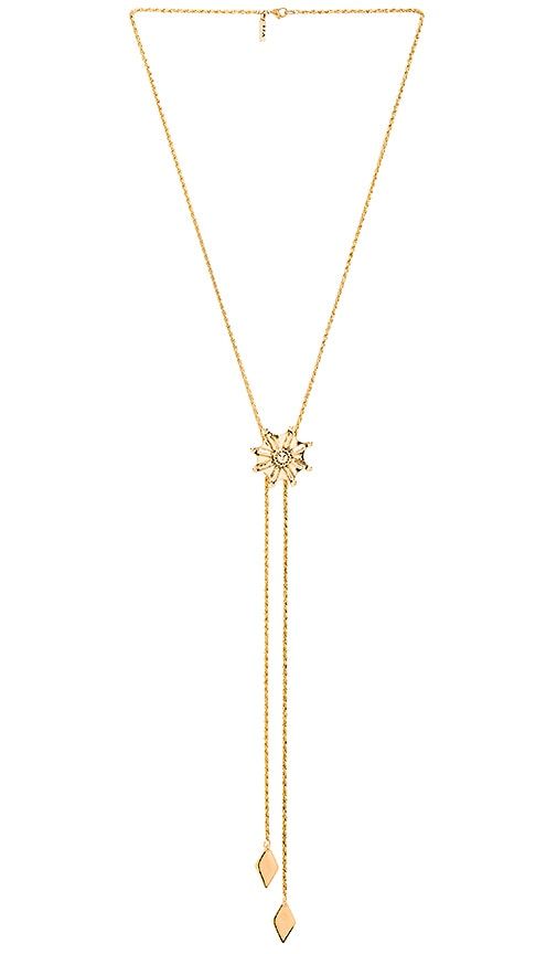 Vanessa Mooney Jane Bolo Necklace in Metallic Gold