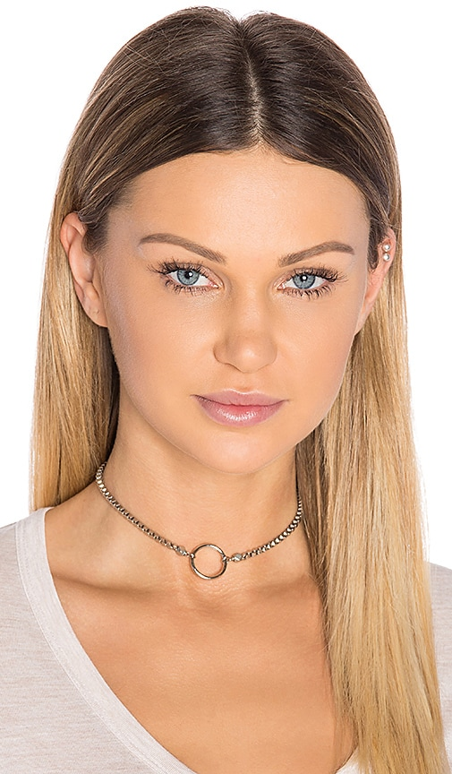 Vanessa Mooney Bonet Choker in Metallic Silver