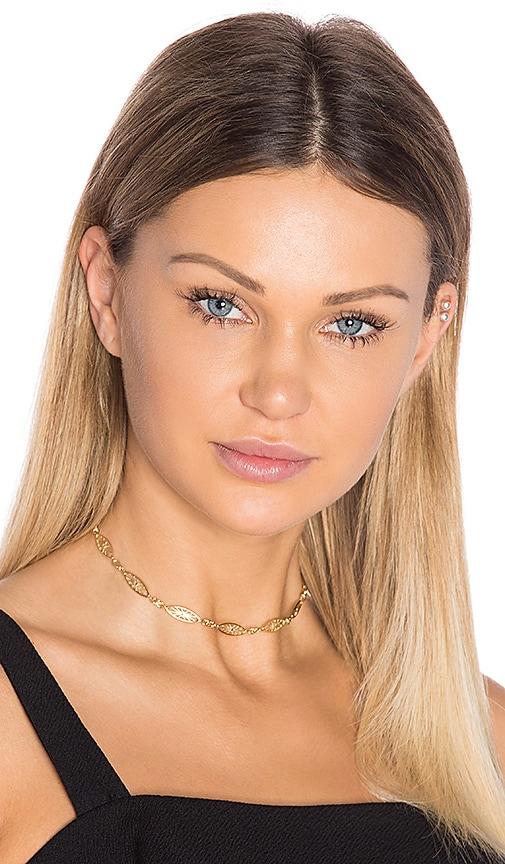 Vanessa Mooney Sun Choker in Metallic Gold
