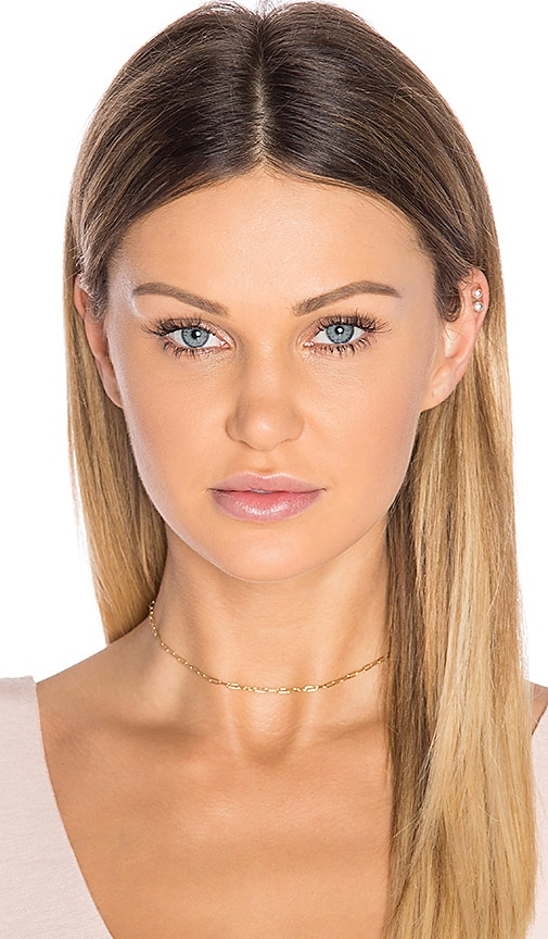 Vanessa Mooney The Link Choker in Metallic Gold