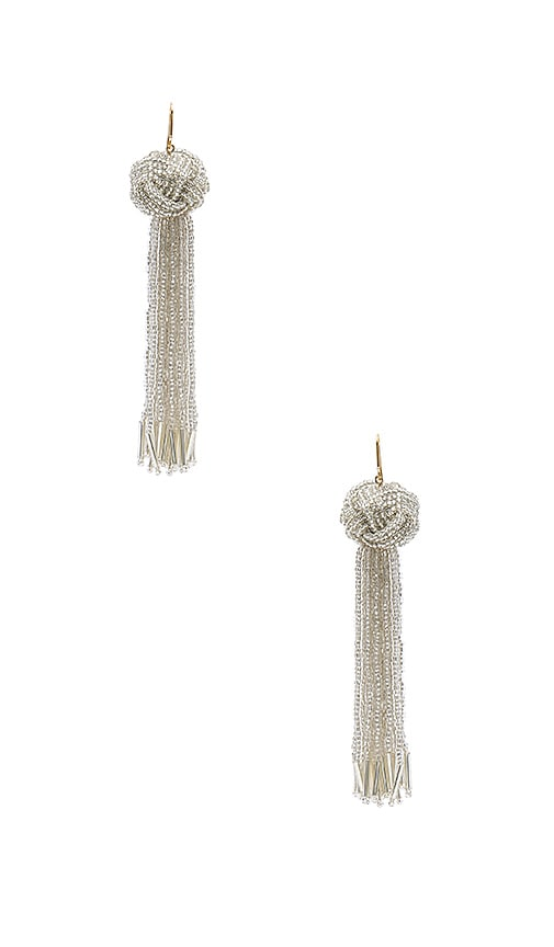 Vanessa Mooney x REVOLVE Darla Earrings in Metallic Silver