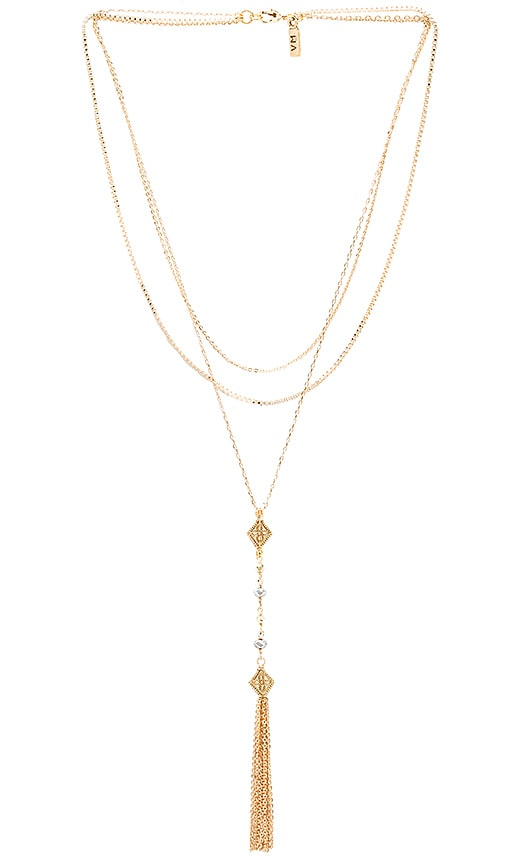 Vanessa Mooney Mia Necklace in Metallic Gold