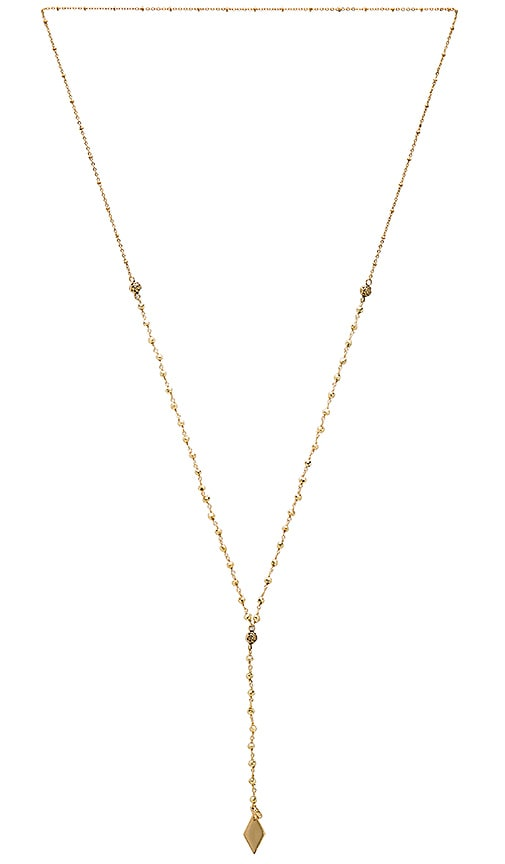 Vanessa Mooney Pansy Necklace in Metallic Gold