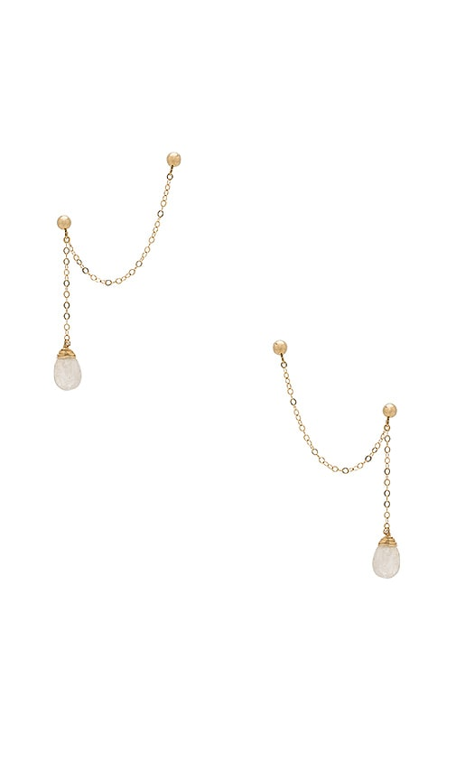 Vanessa Mooney Dakota Earrings in Metallic Gold