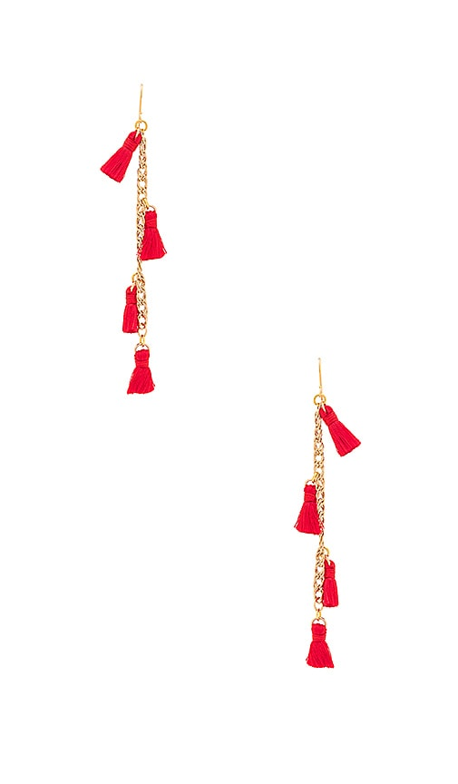 Vanessa Mooney X REVOLVE Tassel Earrings in Metallic Gold
