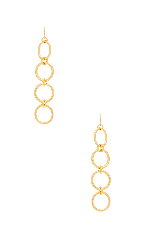 Vanessa Mooney Kiley Earrings in Metallic Gold