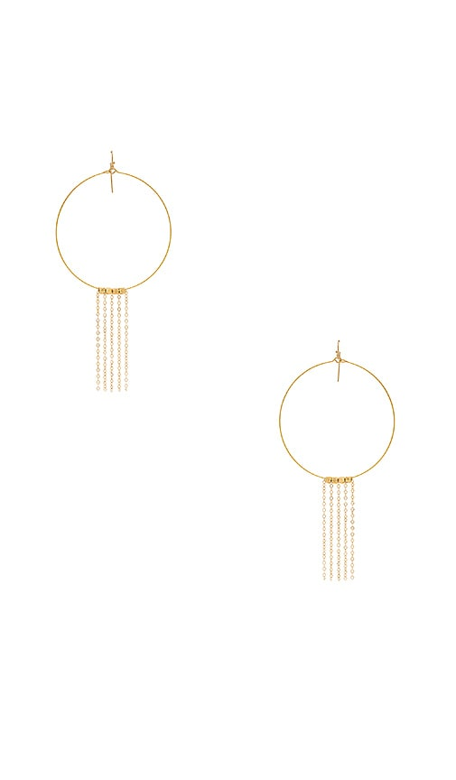 Vanessa Mooney Beat Generation Hoops in Metallic Gold