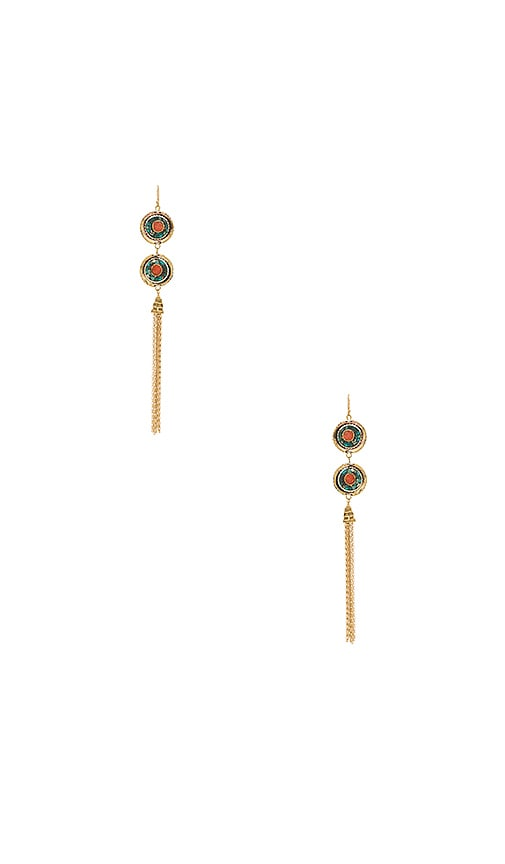 Vanessa Mooney Paulene Earrings in Metallic Gold