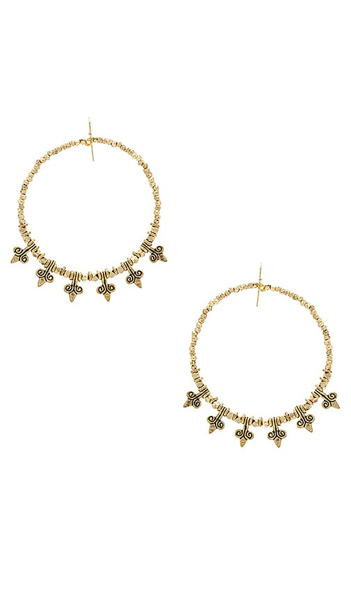 Vanessa Mooney Mary Earrings in Metallic Gold