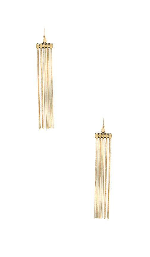 Vanessa Mooney Fara Earrings in Metallic Gold