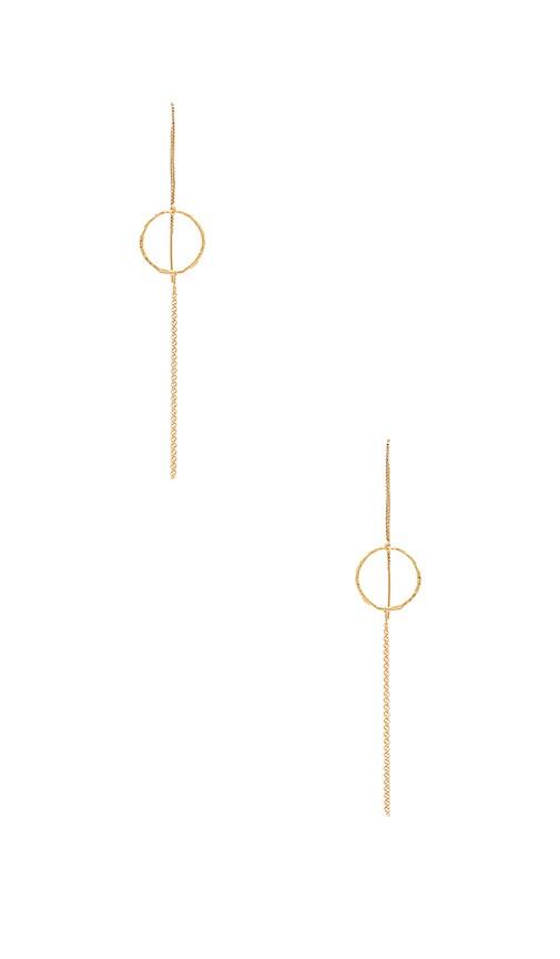 Vanessa Mooney Joni Earrings in Metallic Gold