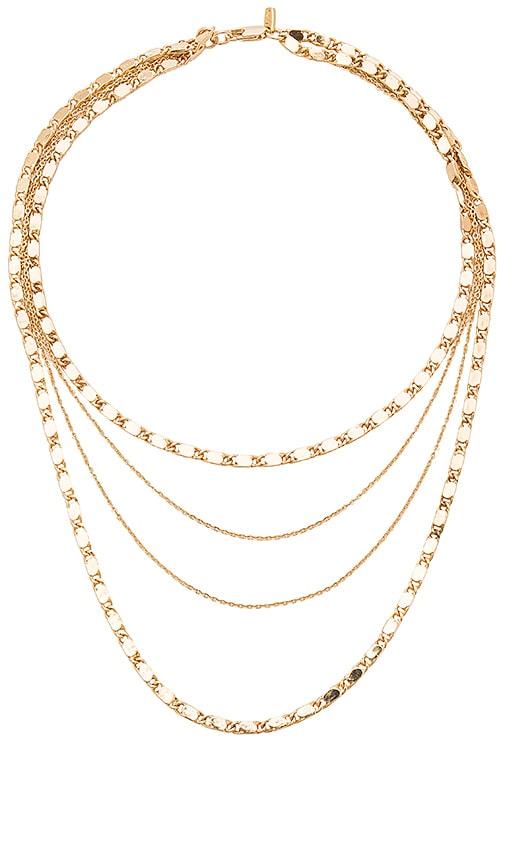 Vanessa Mooney Eiffel Necklace in Metallic Gold