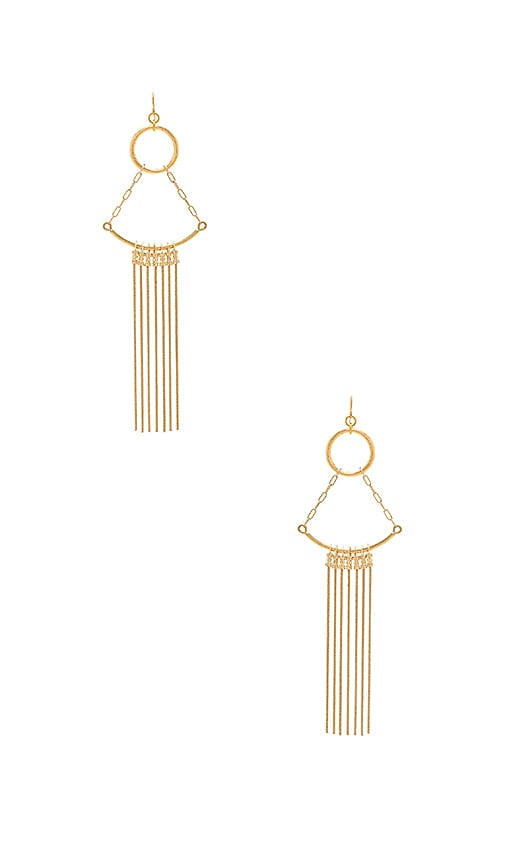 Vanessa Mooney Cher Earrings in Metallic Gold