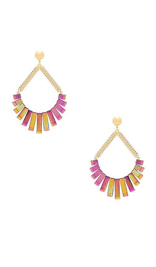 Vanessa Mooney Talulah Earrings in Metallic Gold