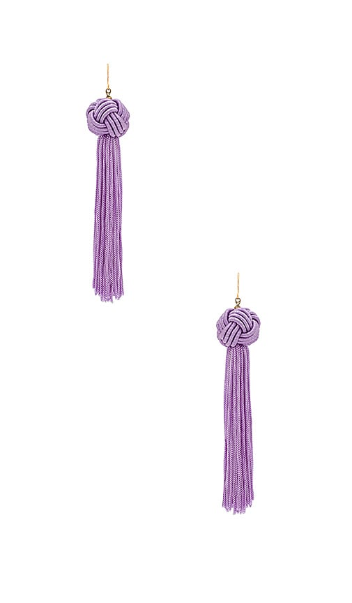Vanessa Mooney The Astrid Knotted Tassel Earring in Lavender