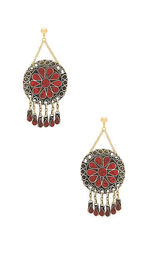 Vanessa Mooney Marisol Statement Earrings in Metallic Gold