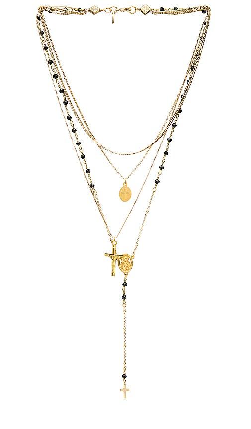 Multi Layered Chain & Stone Rosary