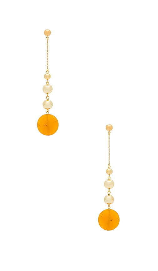 Vanessa Mooney Louise Earrings in Metallic Gold