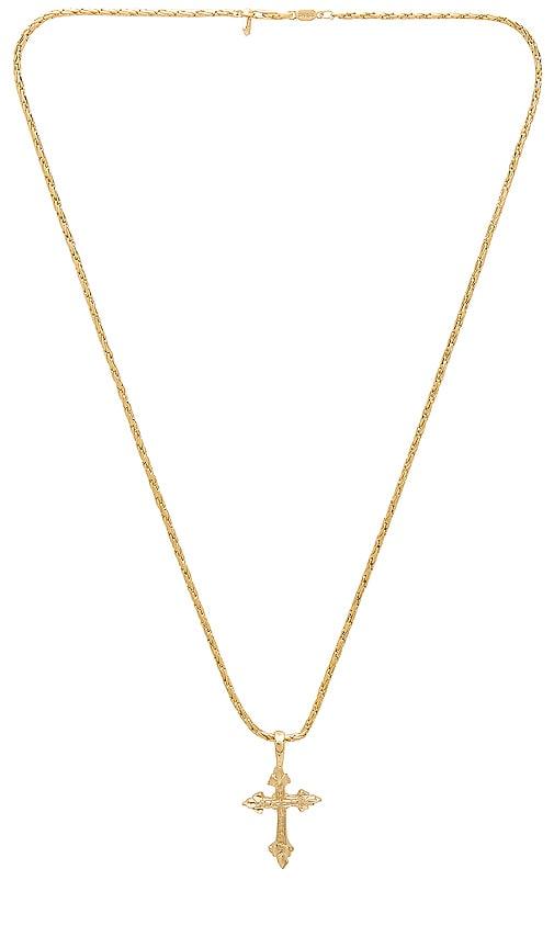 Vanessa Mooney Anastasia Cross Necklace in Metallic Gold