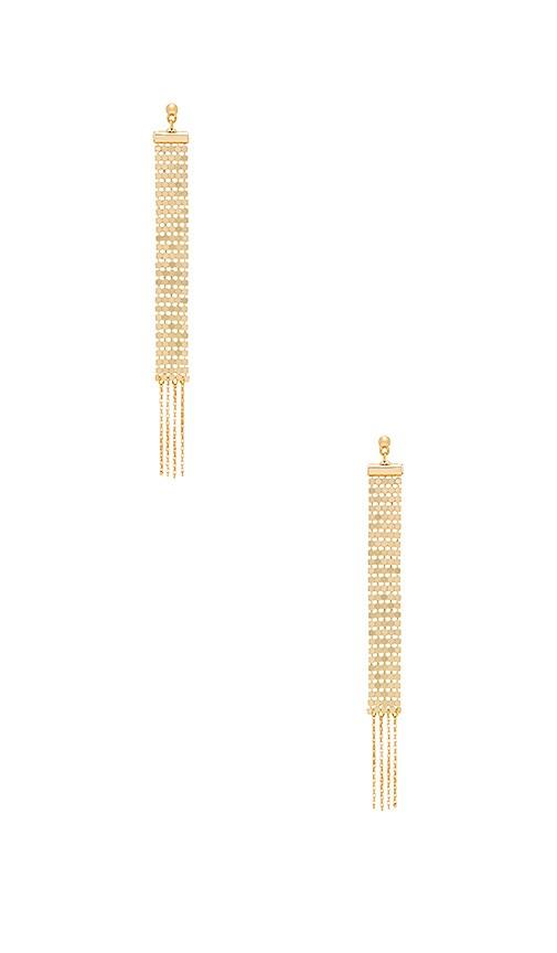 Vanessa Mooney The Paris Earrings in Metallic Gold