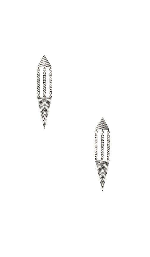 Vanessa Mooney The Lucca Earrings in Metallic Silver