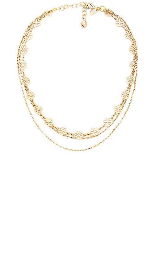 Vanessa Mooney The Audrey Necklace in Metallic Gold