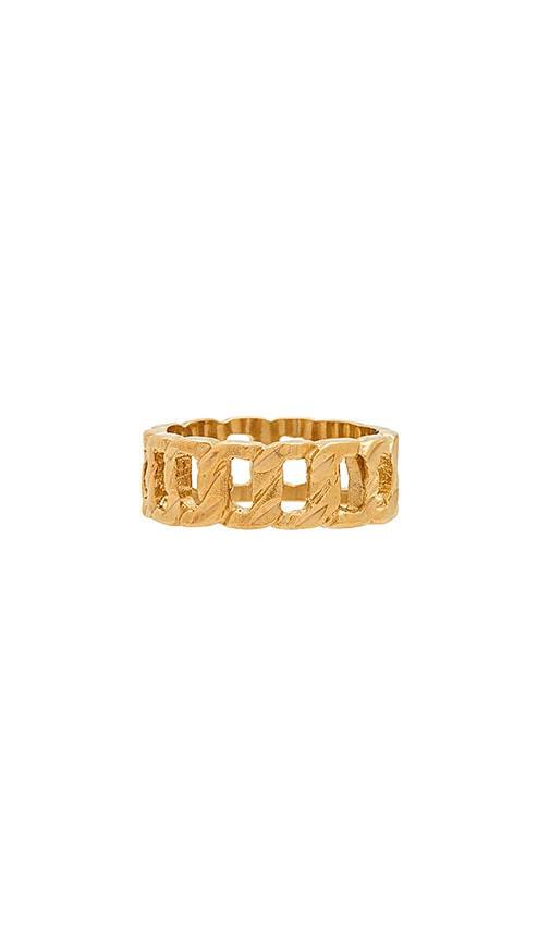 Vanessa Mooney Cut Out Ring in Metallic Gold