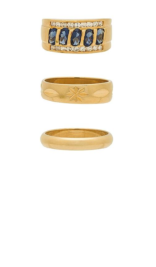 Vanessa Mooney Ring Set in Metallic Gold