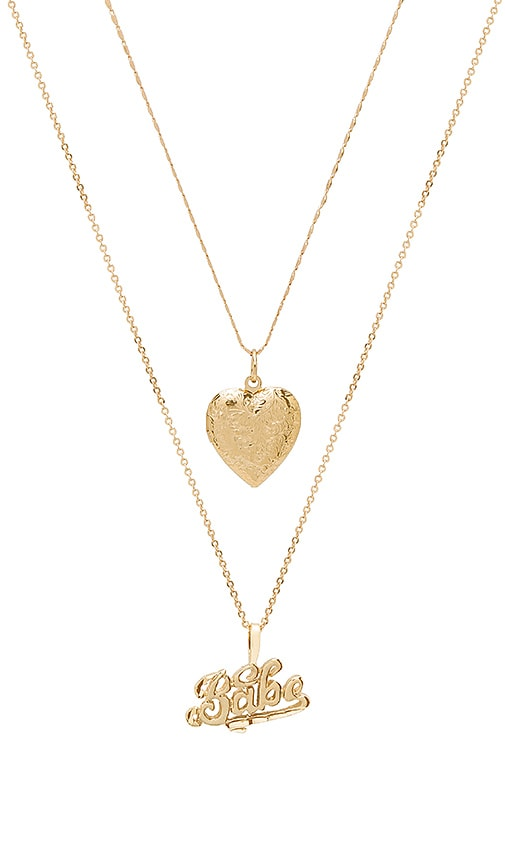 Vanessa Mooney X REVOLVE Babe Necklace in Metallic Gold