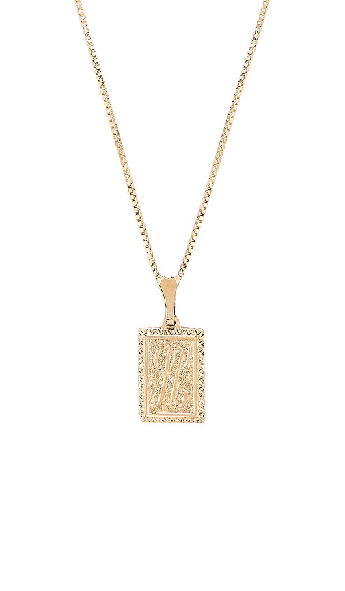 The London H Initial Necklace
