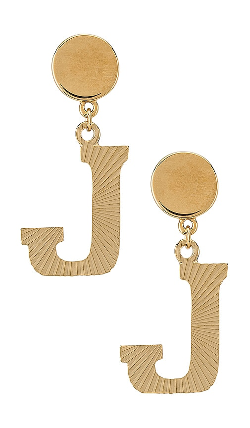 The Illusion J Initial Earrings
