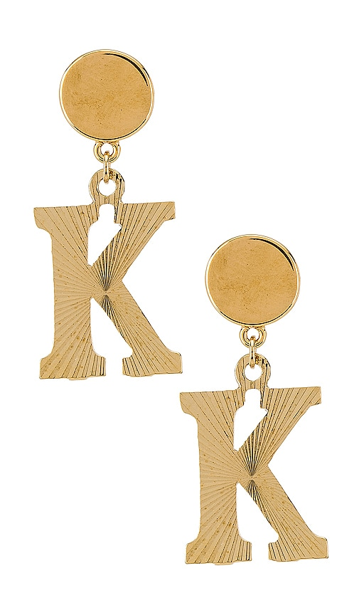 The Illusion K Initial Earrings