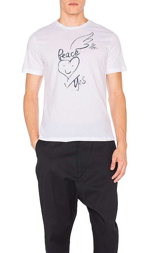 Vivienne Westwood Man War and Peace Tee in White