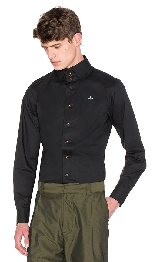 Vivienne Westwood Man Classic Krall Shirt in Black