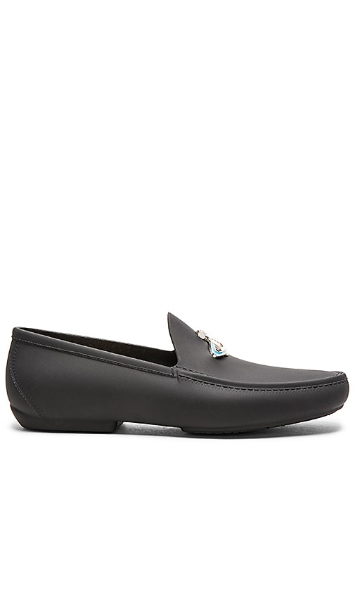 Vivienne Westwood Orb Enamelled Moccasin in Black