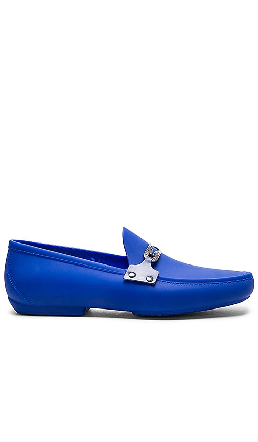 Vivienne Westwood Safety Pin Enamelled Moccasin in Royal